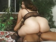 Obese stunner gets pounded