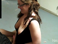 Hotwife blows spouses mate