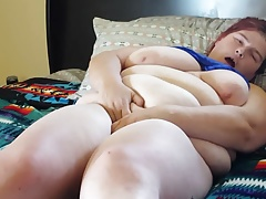 Spectacular bbw caresses and..