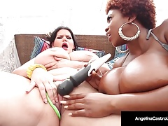 Huge-boobed BBW, Angelina..