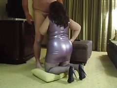Purple Spandex Dress, Blow Job