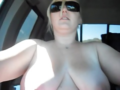 Off roading bare-chested