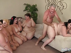 5 Crazy BBWs porked by 3 cocks