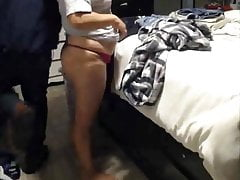plus-size wife  thong..