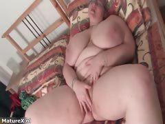 Thick huge-chested mature..