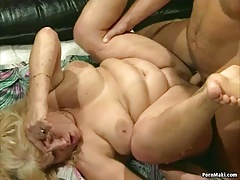 granny get humped in 4 way..