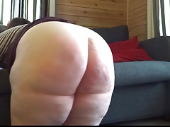 Ginormous bum  gets smacked